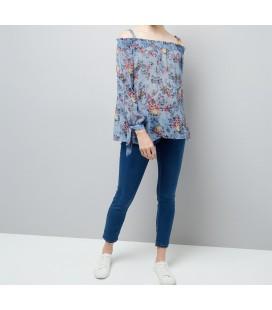 Bluzka ciążowa NL Fleur Print M