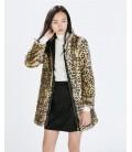 ZARA Basic Płaszcz futerko M