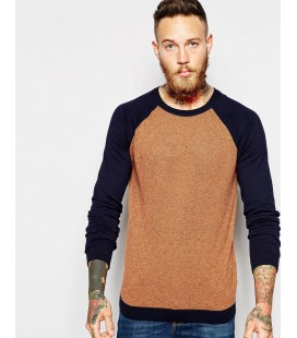Sweter ASOS Contrast Sleeves S