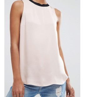 Top exAS Sleeveless Satin Top XXS
