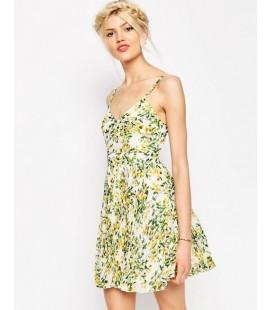 Sukienka plisowana ASOS Sheer