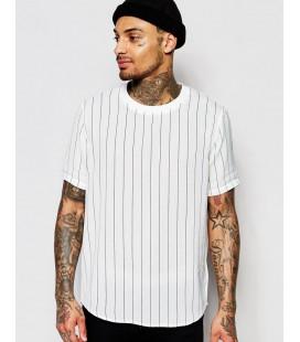 T-Shirt exAS Stripe M
