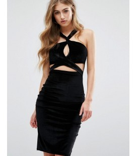 Sukienka Missguided Velvet