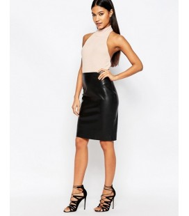Body Club L Crepe High Neck S
