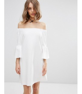 Sukienka exAS Fluted Sleeve