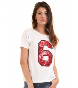 T-shirt damski Only Six Sequin M