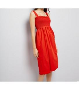 0601007/36 Sukienka NL Poplin Shirred S