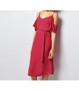 0612015/36 Sukienka NL Flutter Sleeve S