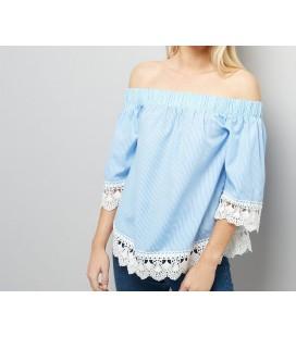 Bluzka damska NL Crochet Trim S 0613006/36
