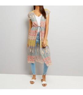 Kimono damskie NL Folk Tie Waist XXL 0615019/44