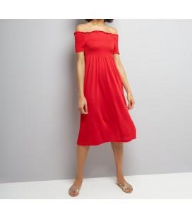 0617015/36 Sukienka NL Plain Shirred S