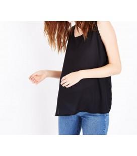 0629035/42 Bluzka ciążowa NL Plain Zip Back XL