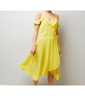 Sukienka NL Plain Fril Wrap