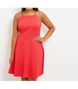 Sukienka NL Orange Cold Shoulder