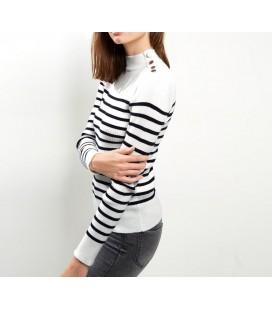 Sweter NL Stripe Button