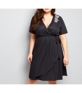 Sukienka NL Embroid Wrap
