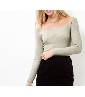 Sweter damski NL Rib Bardot XXL 0808012/44