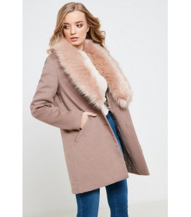 Płaszcz damski Anita&Green Fur Trim XL