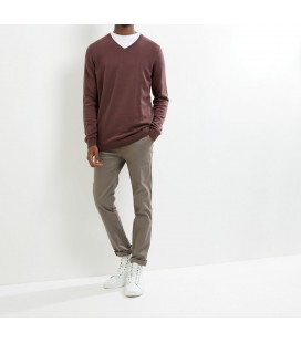 Sweter męski NL Cotton V neck XS 0907001/34