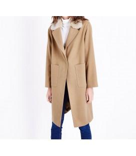 0908007/40 Płaszcz NL Fur Collar Crombie L
