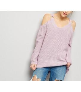 Sweter NL Split Neck Wide S
