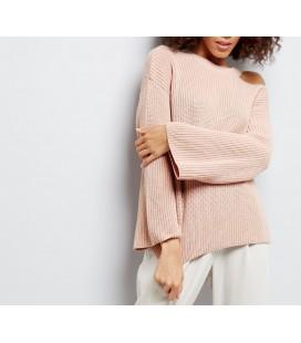 Sweter NL Split Neck Wide L