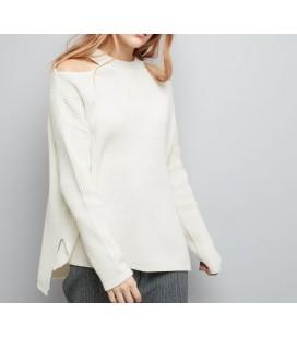 Sweter NL Split Neck Wie L