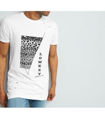 0909002/40 T-shirt NL Ripped Print L