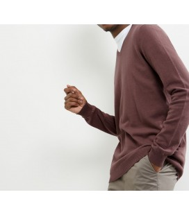 Sweter męski NL Cotton V Neck M 0913012/38