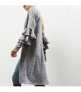 0627029/36 Sweter NL Ruffle Cardigan S