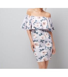 1019056/44 Sukienka NL Floral XXL
