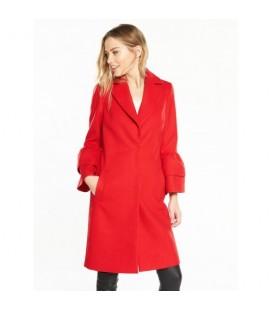 Płaszcz damski BY VERY Red Frill L 1208001/40