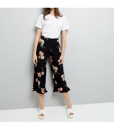 Spodnie damskie NEW LOOK Black Floral M 1609012/38