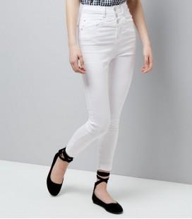 Spodnie dziewczęce NEW LOOK White 1612018/9