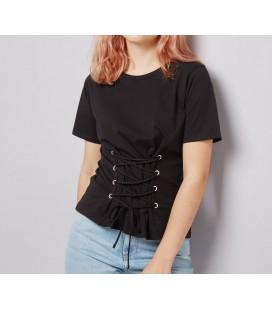 T-shirt damski NEW LOOK Lace Up L 1613017/40