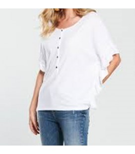 T-shirt damski BY VERY Buttons S/M 1714021/38
