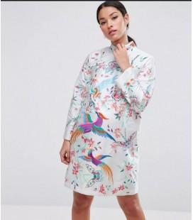 Sukienka ciążowa exAS Bird Print M 1901019/38