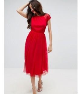 Sukienka damska exAS Bright Red L 1902011/40