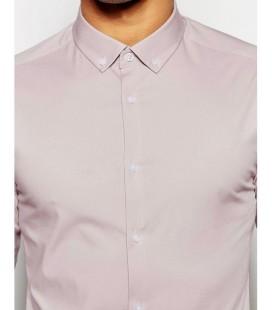 Koszula męska exAS Skinny In Pink L