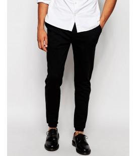 Spodnie męskie exAS Skinny Joggers With Button Fly