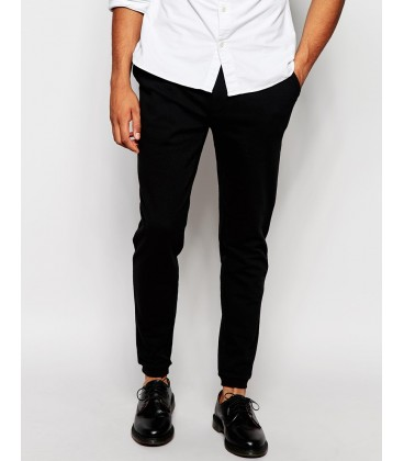 exAS Skinny Joggers With Button Fly