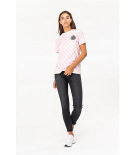 T-shirt damski HYPE Checkerboard XS 2111013/34