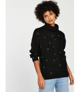 Sweter damski BY VERY Black 50 2202002/50