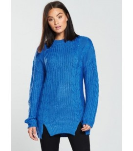 Sweter damski BY VERY Blue Cable S 2204010/36