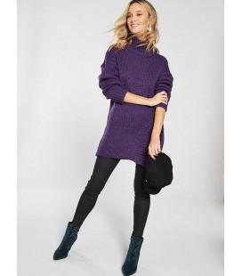 Sweter damski BY VERY Aubergine M 2206003/38