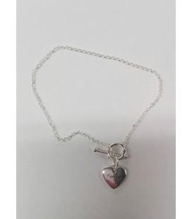 Bransoletka srebrna z serduszkiem AVON 04022