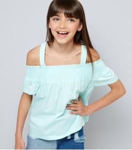 Bluzka dziewczęca NEW LOOK Shirred 2403014/14