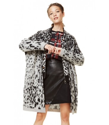 Sweter damski Desigual Jers Jacket Grey 2507025/M