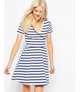Sukienka exAS Skater Mini in Stripe L